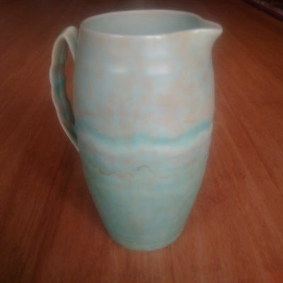 Vintage Beswick Jug 1176 Mint Green with Off-Yellow Free Designs