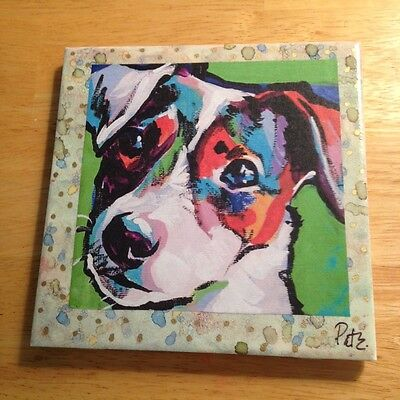 "One of a Kind Jack Russell 6""x6"" Ceramic Tile!"