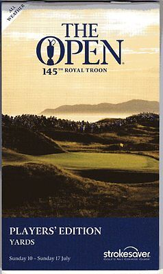 2016 Open Royal Troon Players' Strokesaver (Yards), Brand New All Weather Editn