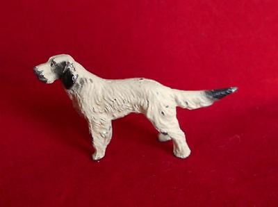 "Old Small Metal English Setter Dog Figurine c1920s or 30s 2.25"" L x 1.4"" H"