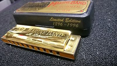 Collector Harmonica,Hohner,Marine Band 1896,Limited Edition,Gold Plated,Key C