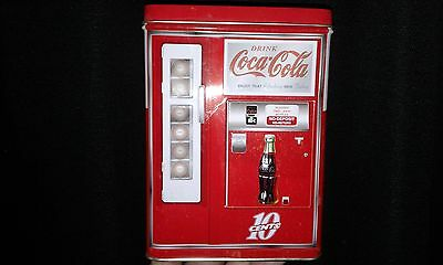 "Coca-cola tin bank coca cola vending machine 6.5""x 5""x 3"""