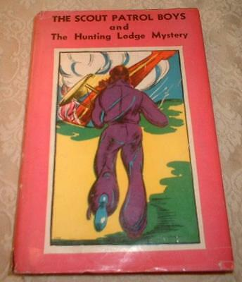 1933 SERIES BOOK SCOUT PATROL BOYS & HUNTING LODGE MYSTERY by JACK WRIGHT w dj