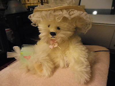 "Annette Funicello "" pale yellow acrylic bear"