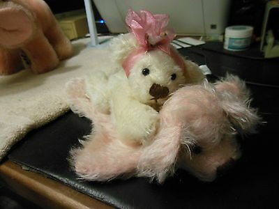 "Annette Funicello ""Layla"" Mohair bear with mohair bear rug FREE shipping"