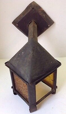 Arts&Crafts Mission Hand Hammered Copper Porch Light Wall Sconce Lamp To Restore