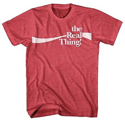 Coca Cola The Real Thing! Red Heather Men's T-Shirt New