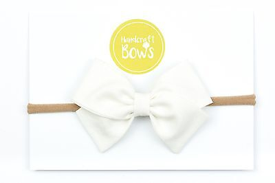 Cute Baby Bow Headband Hairband Elastic White Newborn Baby Toddler Headband Gift