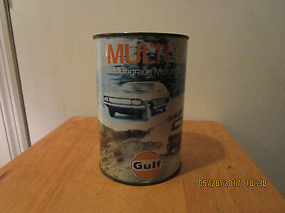 GULF MULTI G MOTOR METAL Oil Can 1 LITER.