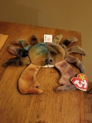 Rare Mint Condition Claude the Crab Beanie Baby With Errors!