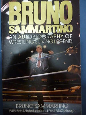 Bruno Sammartino wrestling autobiography book MINT Softcover 240 pages SIGNED