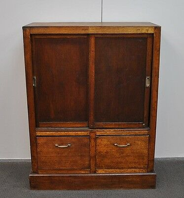 Antique Vintage Rustic Industrial Hardwood Pigeon Holes * Office Cabinet