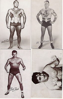 1950 Wrestling Exhibit card 32 of 34 set. RARE! Rogers Thesz Zuma Londos George