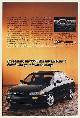 1995 Mitsubishi Galant Filled with Favorite Things Ad