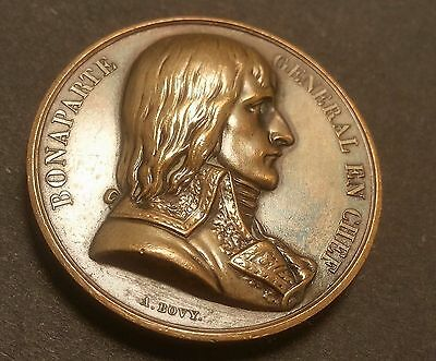 France, Egypt, The Conquest of Egypt 1798  Copper Medal by A. Bovy