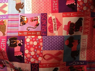 Breast Cancer Animal Love Stethoscope Cover -NEW - Handmade - FREE S&H