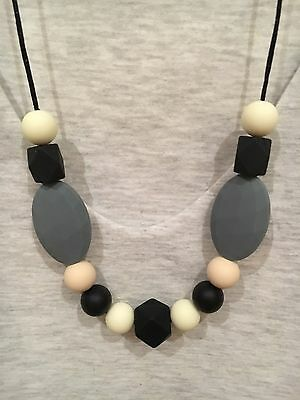 Silicone Sensory (was teething) Necklace for Mum Jewellery Beads Aus Mono Gift