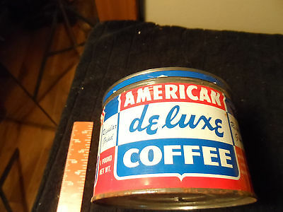 American Deluxe Vintage Coffee Canco Can National Tea Co Chicago Illinois Il