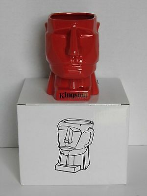NEW in Box Old Stock Kingston Technology Red Rex Pen Pencil Holder Desk Cup Mug