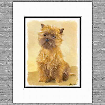 Cairn Terrier Dog Original Art Print 8x10 Matted to 11x14