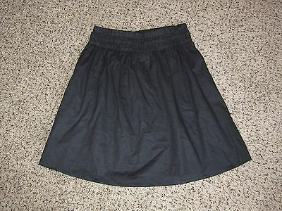 Liz Lange Maternity Dark Gray Charcoal Shimmer Cotton A-Line Skirt Size XS
