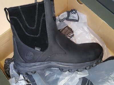 genuine Timberland boots Men's Chillberg Mid side Zip Black size 10 M