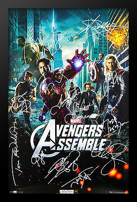 The Avengers Signed Movie Poster