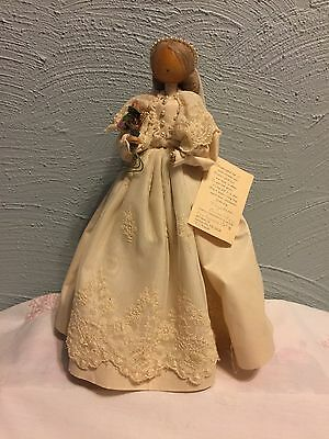 "Vintage Pine Baroness Doll 12"" Bride Artist  E.L. Krause Made In U.S.A"
