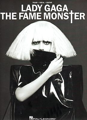 LADY GAGA - The Fame Monster   Piano - Vocal - Guitar SHEET MUSIC Book  8 songs