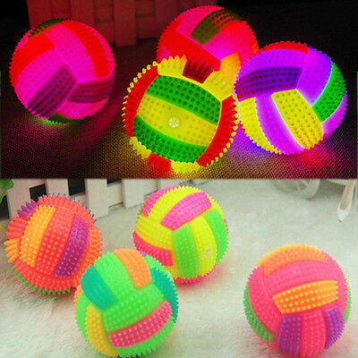 Volleyball LED Flashing Light Up Color Changing Bouncing Ball Kids Child Toy HOT