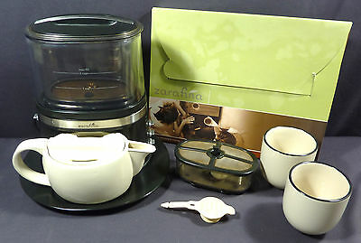 Zarafina Tea Maker Suite TH1000 Ceramic Pot Cups Serving Tray Sunbeam