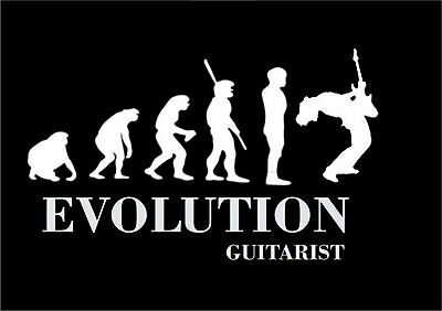 Evolution Of A Guitarist  Funny New Unisex T-Shirt