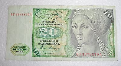 German Bank Note - 1980- 20 Marks - Zwanzig Deutsche Mark (c) 1961