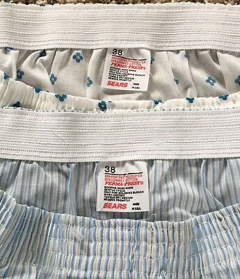 Lot Of 2 Vintage Underwear Shorts Boxer by SEARS Size 34-36 Made in USA