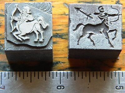 Letterpress Printing Printer Block Press Wood Metal Type Zodiac Sagittarius 2!