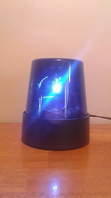 """Blue 7"""" Lighted Fire Police Light Beacon Rotating Spinning Flashing Party Lamp"""