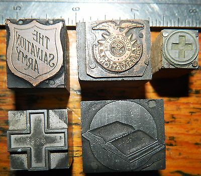 Letterpress Printing Printer Block Press Wood Type Salvation Army Red Cross Bibl