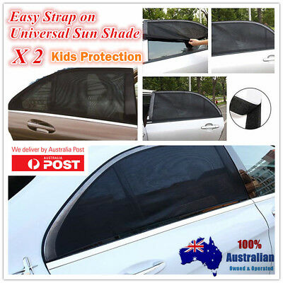 2 x Cheapest Car Auto Foldable Side Window Sun Shades Net Suction Cups