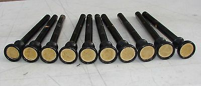 10 Wood Stop Pulls Knobs from Antique Estey  Pump Organ Used Repurpose Crafts