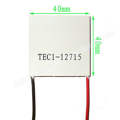 TEC1-12715 Heatsink Thermoelectric Cooler Cooling Peltier Plate Module 70℃ white