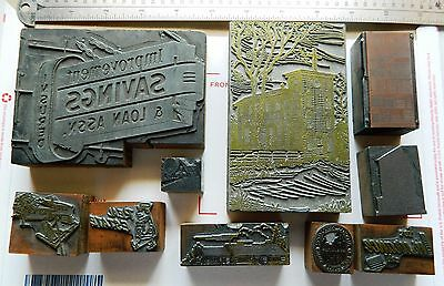 Letterpress Printing Printer Block Press Wood Metal Type Buildings Book Shelf