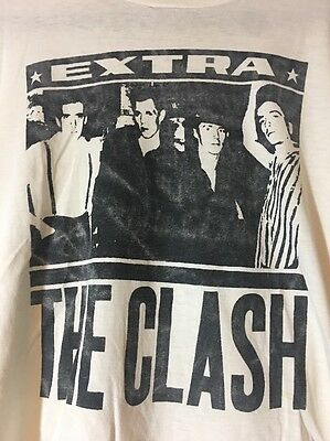 1980's Vintage The Clash Shirt Paper Thin And Stained Sz: M