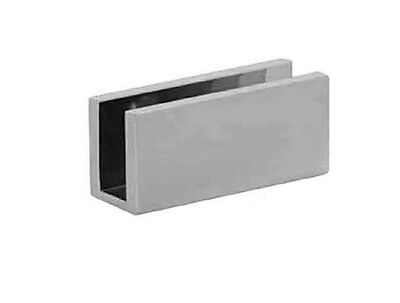 Square 10mm Glass Wall Bracket - Chrome - Brand NEW!
