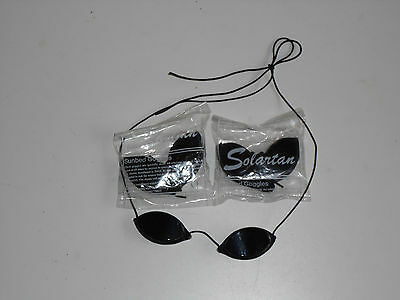 1 Pair Elastic Sunbed Tanning Goggles For Eye Protection Slimline Igoggles