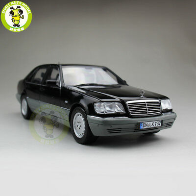 1/18 Daimler Mercedes-Benz S Class S600 V12 W140 Diecast Model Car Black