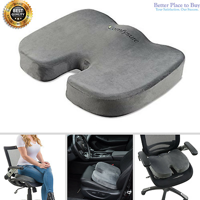 Coccyx Orthopedic Memory Foam Office Chair Seat Cushion Pain Relief Anti-Slip