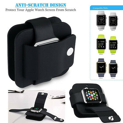 Protective Case Cover Charging Wallet Dock Holder Stand Station for Apple Watch