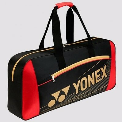 YONEX Team Series Rectangular Tournament Racquet Bag 4711EX, Black/Red, 2017 New