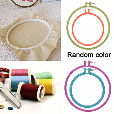 1Pc Plastic Cross Stitch Machine Embroidery Hoop Ring Sewing Tool 3-10 inch