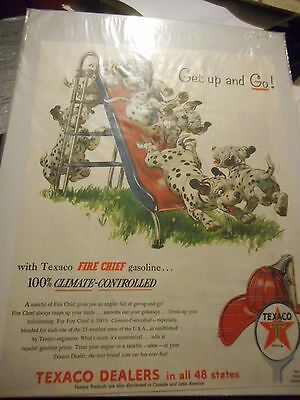 1950's TEXACO DALMATION DOGS ADVERTISING PAGES (4)